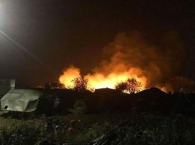 Пожар у беженцев